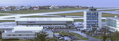 Reykjavíkurflugvöllur í haustblíðunni
